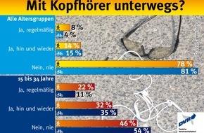 Deutscher Verkehrssicherheitsrat e.V.: Mit Kopfhörer unterwegs?
