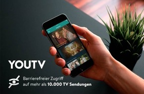 YOUTV - TV Mediathek: YouTV bietet Fernsehen für die Ohren