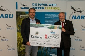"""Krombacher Brauerei GmbH & Co.: Naturbewusster Einsatz - Krombacher Brauerei unterstützt das Projekt des NABU zum Wiederanschluss des Altarmes """"Vehlgaster Dorfhavel"""""""