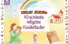 """Menschenkinder Verlag: """"Religiöse Herzenslieder"""" zum 25. Jubiläum / Ein neues Doppelalbum mit Detlev Jöckers schönsten religiösen Liedern (mit Bild)"""