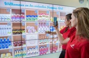 Vodafone GmbH: Vodafone Campus: Einkaufen an Deutschlands erster digitaler Shopping Wall