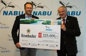 Krombacher Brauerei GmbH & Co.: Krombacher spendet 225.000 EUR an den NABU - Neues Leben für die Auen in Burgdorf und Gifhorn