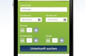Tiscover GmbH: Schon jede sechste Alpen-Unterkunft wird mobil gebucht