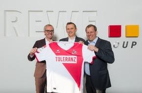 Rewe Group: REWE Group sendet Botschaft für Toleranz / Verzicht auf Werbung auf dem Trikot des 1. FC Köln