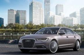 Audi AG: Audi und FAW kooperieren bei Plug-in-Hybrid für China