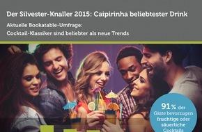 Bookatable GmbH & Co.KG: Der Silvester-Knaller 2015: Caipirinha ist der beliebteste Drink / Eine Bookatable-Umfrage zeigt: Cocktail Klassiker sind beliebter als neue Trends