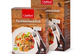 """Jentschura International GmbH: Bio pur bei P. Jentschura: Alle basischen Lebensmittel nun in Bio-Qualität / Produkt-Relaunch für """"TischleinDeckDich"""""""