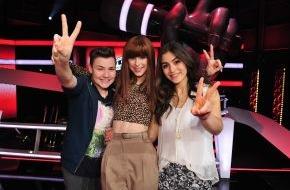 """SAT.1: """"Diese Kombination ist Feuer!"""": Selin (14) und Richard (14) aus Team Lena im """"The Voice Kids""""-Finale"""