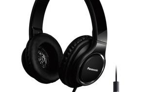 Panasonic Deutschland: Panasonic stellt neues Over-Ear Headset vor / Der 40mm High Resolution Wandler des RP-HD6M sorgt für besten Sound mit voluminösen Bässen und klaren Höhen