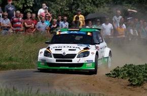 """Skoda Auto Deutschland GmbH: ERC: SKODA feiert fünften Sieg in Folge bei der """"Ypres Rally"""" (FOTO)"""