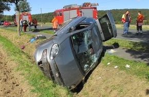 Polizeiinspektion Hildesheim: POL-HI: Nach Fehler beim Überholvorgang - Verkehrsunfall mit verletzter Person
