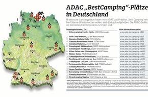 """ADAC: ADAC zeichnet 127 Campingplätze in Europa aus / 18 Plätze in Deutschland erhalten das Prädikat """"BestCamping 2016"""""""