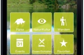 Netzwerk Schweizer Pärke: Schweizer Pärke App: App in die Pärke