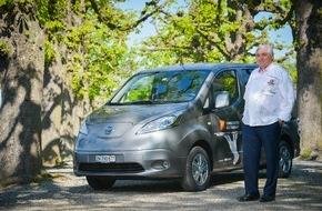 Nissan Switzerland: Spitzenkoch Jacky Donatz hat ein neues Rezept: Elektromobilität mit dem Nissan e-NV200