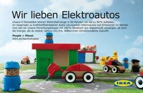 IKEA Deutschland GmbH & Co. KG: Beitrag zur E-Mobilität: IKEA setzt auf schnelle E-Tankstellen / Spatenstich in Sindelfingen als Auftakt für Baden-Württemberg
