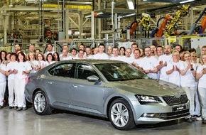 Skoda Auto Deutschland GmbH: Neue Ära: Produktionsstart für neuen SKODA Superb