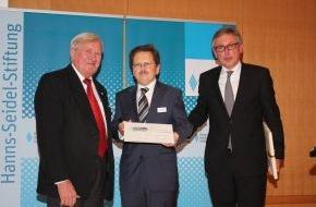 Hanns-Seidel-Stiftung: Hanns-Seidel-Preis für verantwortungsvolles Unternehmertum verliehen / Preis der Hanns-Seidel-Stiftung geht an den Wissenschaftler Stephan Wirz