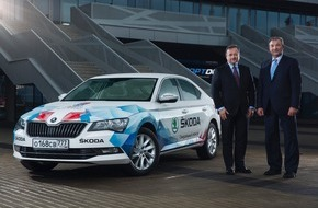 Skoda Auto Deutschland GmbH: Offizielle Flotte: SKODA macht IIHF Eishockey-Weltmeisterschaft in Russland mobil