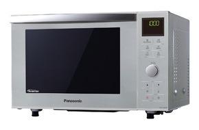 Panasonic Deutschland: Panasonic NN-DF385M: Inverter-Mikrowelle, Grill und Backofen in einem / Vielseitig genießen auch bei wenig Platz und Zeit in der Küche