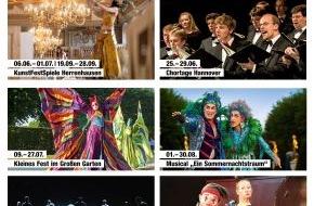 Hannover Marketing und Tourismus GmbH: Herrenhausen unterhält / Feuerwerk, KunstFestSpiele,Tanztheater in Königlichen Gärten (FOTO)