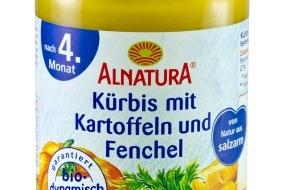 Migros-Genossenschafts-Bund: Produkt-Rückruf: Alnatura Babygläschen Kürbis mit Kartoffeln und Fenchel