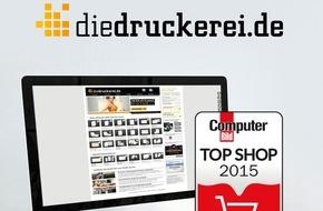 """Onlineprinters GmbH: diedruckerei.de als """"COMPUTER BILD Top Shop"""" ausgezeichnet /  Die Onlinedruckerei setzt sich gegen 91 Prozent aller getesteten Shops durch"""