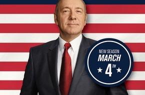 """Sky Deutschland: Vierte Staffel von """"House of Cards"""" ab 4. März exklusiv und zuerst auf Sky"""