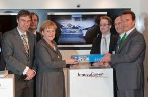 Microsoft Deutschland GmbH: Innovationen Made in Germany: Merkel und Schwarzenegger bei Microsoft auf der CeBIT