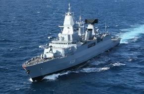 """Presse- und Informationszentrum Marine: Fregatte """"Hamburg"""" ist NATO-Flaggschiff"""