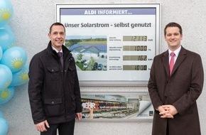 Unternehmensgruppe ALDI SÜD: Erfolgreich für die Umwelt: ALDI SÜD feiert das 1000. Solardach