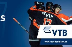VTB Direktbank: Die VTB Direktbank verlost tolle Preise beim nächsten Heimspiel des Eishockeyteams Löwen Frankfurt am 25.01.2015 in der Eissporthalle Frankfurt