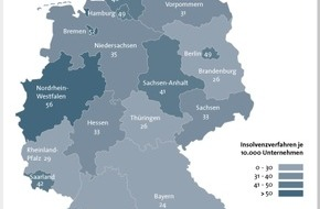 BÜRGEL Wirtschaftsinformationen GmbH & Co. KG: Firmeninsolvenzen sinken um 4,4 Prozent - Anstieg auf Jahressicht möglich