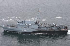 """Presse- und Informationszentrum Marine: Minenjagdboot """"Bad Bevensen"""" kehrt aus NATO-Einsatz zurück"""