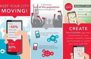 PTV Group: Neue City-App feiert Premiere - Auf dem Weltverkehrsforum 2015 stellt die PTV Group neue mobile Anwendungen für Städte und ihre Bürger vor