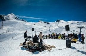 Zell am See-Kaprun: Lea Santee und Philipp Kohlweg live auf 2.600 Meter Höhe auf dem Kitzsteinhorn in Zell am See-Kaprun