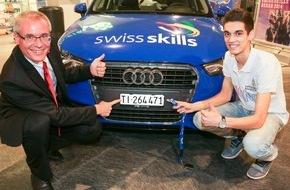Debrunner Acifer AG: Blerton Ahmeti aus Paradiso/TI, gewinnt die Debrunner Acifer Trophy / Die Debrunner Acifer Trophy wird von SwissSkills unterstützt
