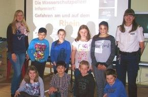 """Wasserschutzpolizeiamt Rheinland-Pfalz: WSPA-RP: Vortragsreihe """" Gefahren am Wasser"""" der Wasserschutzpolizeistation St.Goar"""