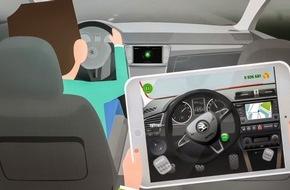 Skoda Auto Deutschland GmbH: SKODA LittleDriver App: cooles Cruisen für Kids auf Tablet