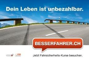 Schweizerischer Verkehrssicherheitsrat - Besserfahrer.ch: Deutlich mehr Besserfahrer auf Schweizer Strassen