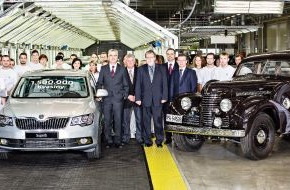 Skoda Auto Deutschland GmbH: 1,5 Millionen SKODA in Kvasiny gebaut