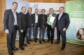 """For Friends Hotel GmbH: *****For Friends Hotel in Mösern erhält Auszeichnung als """"klimaaktives Gebäude"""""""