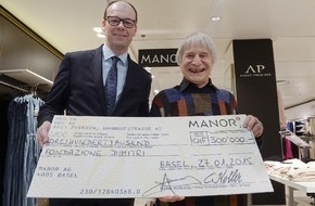 Manor AG: Manor : l'opération caritative de Noël rapporte 300 000 francs à la Fondation Dimitri