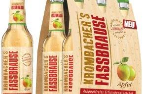 Krombacher Brauerei GmbH & Co.: Erfrischend natürlich: KROMBACHER`S FASSBRAUSE geht mit neuer Sorte Apfel an den Start