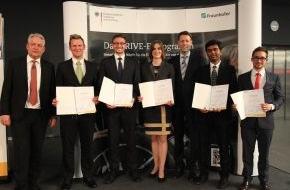 DRIVE-E: DRIVE-E-Studienpreise verliehen: Wissenschaftliche Arbeiten zum elektrischen Antriebsstrang überzeugten