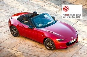"Mazda: Mazda MX-5 mit ""Red Dot: Best of the Best"" Award ausgezeichnet"