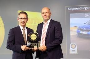 Skoda Auto Deutschland GmbH: SKODA FABIA und SKODA SUPERB gewinnen J.D. Power Award für höchste Kundenzufriedenheit