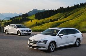 Skoda Auto Deutschland GmbH: Der neue SKODA Superb GreenLine: mehr als 1.780 km mit nur einer Tankfüllung