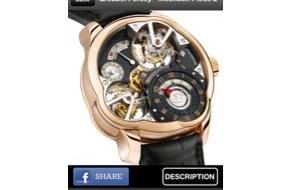 """WISeKey SA: WISeKey und der Grosse Genfer Uhrmacherpreis (Grand Prix d'Horlogerie de Genève, GPHG) präsentieren gemeinsam eine Sonderedition der WISeKey-App """"WISeID"""""""