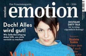 """EMOTION Verlag GmbH: Nicolette Krebitz: """"Ich habe viel Spaß mit kreativen Alpha-Männern"""""""