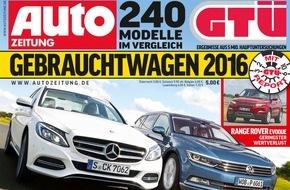 GTÜ Gesellschaft für Technische Überwachung GmbH: GTÜ-Gebrauchtwagenreport 2016: Mercedes-Modelle belegen gleich fünf Mal die Spitzenplätze